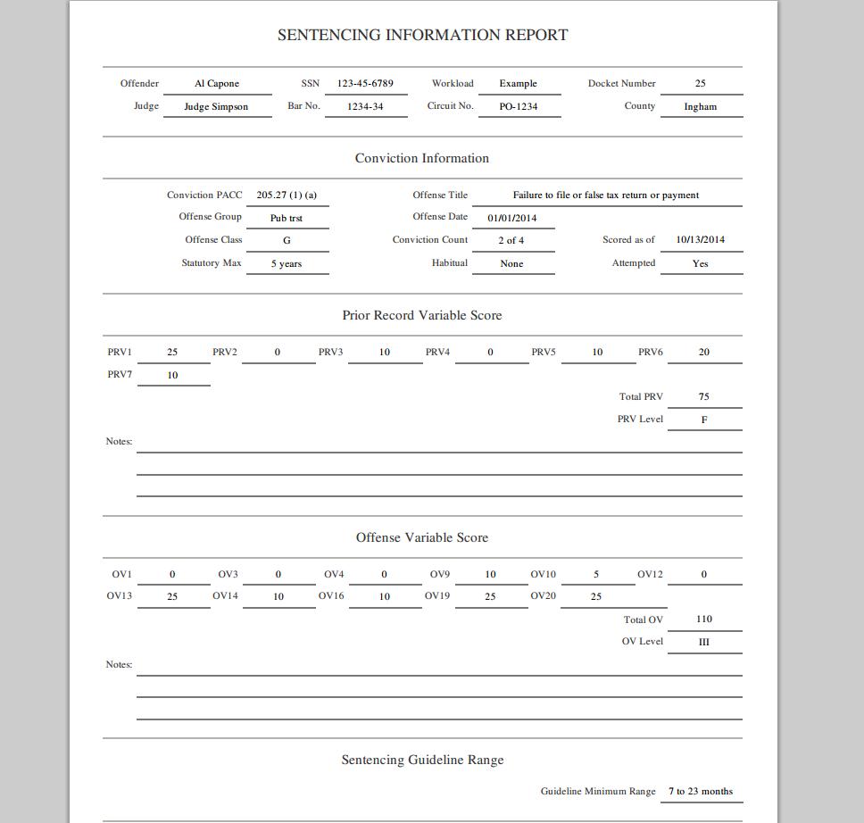 PDF Sentencing Results